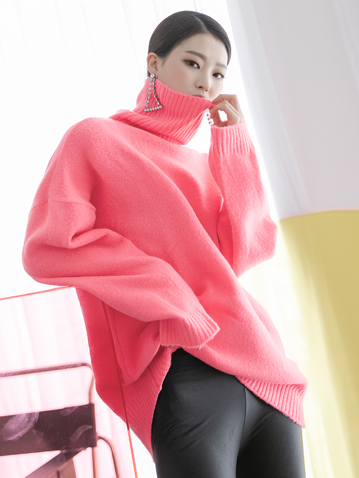 E2157 Curling wool Knit turtleneck Top (3rd REORDER)