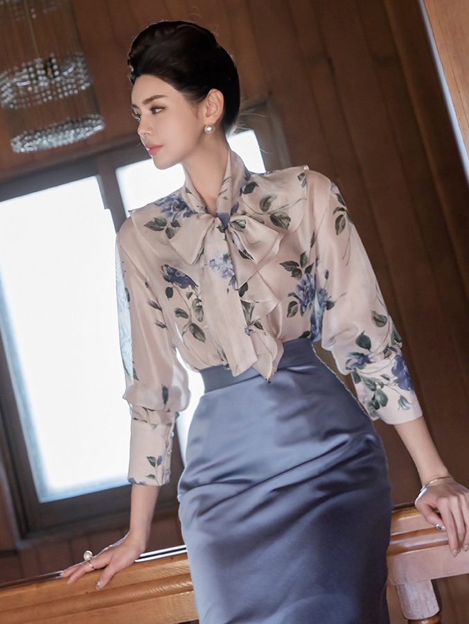 B2542 make Flower Blouse