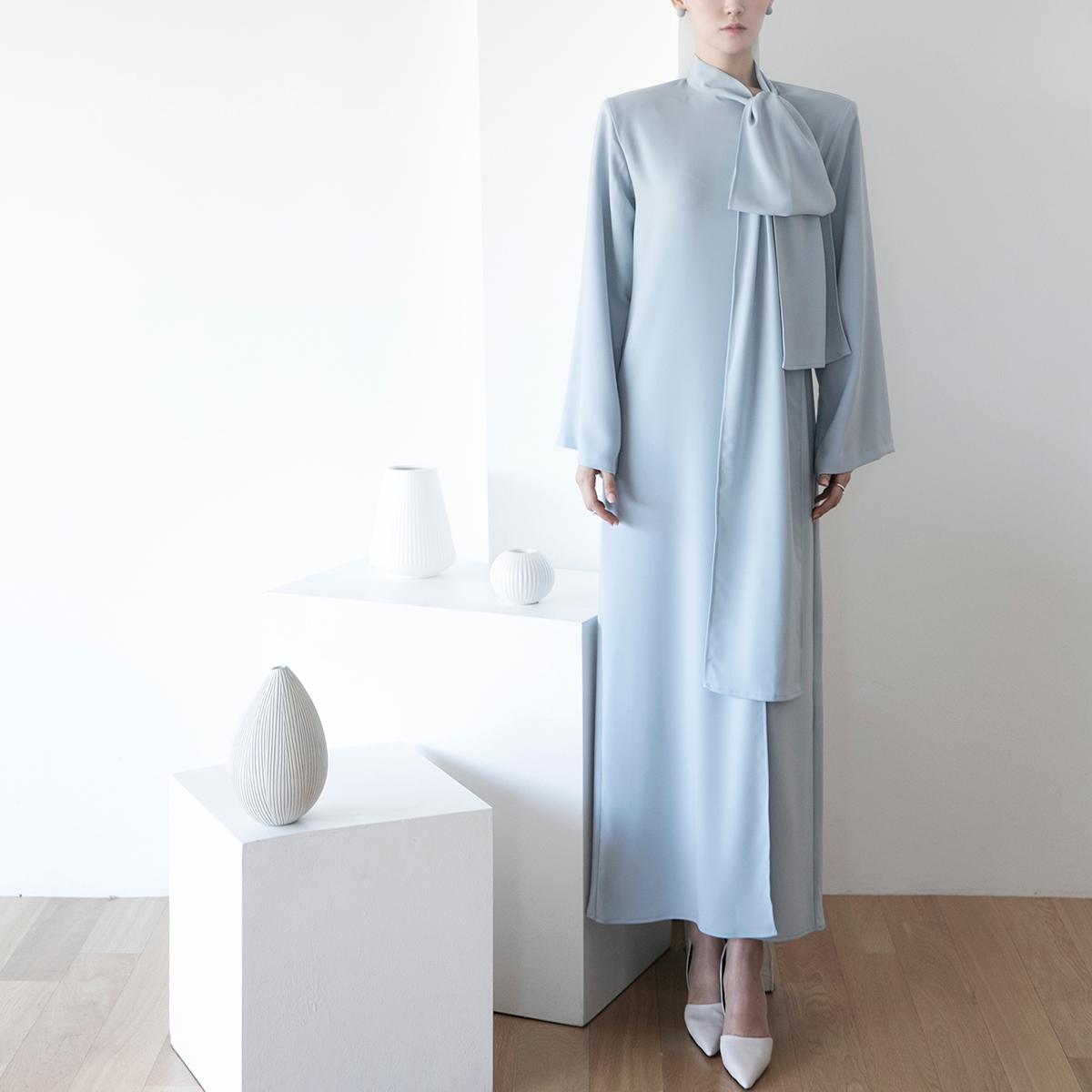 D9122 Robert Tie Point Shirt Long Dress