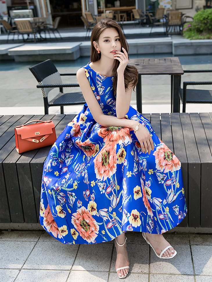 D9005 Flower Joey Volume Dress