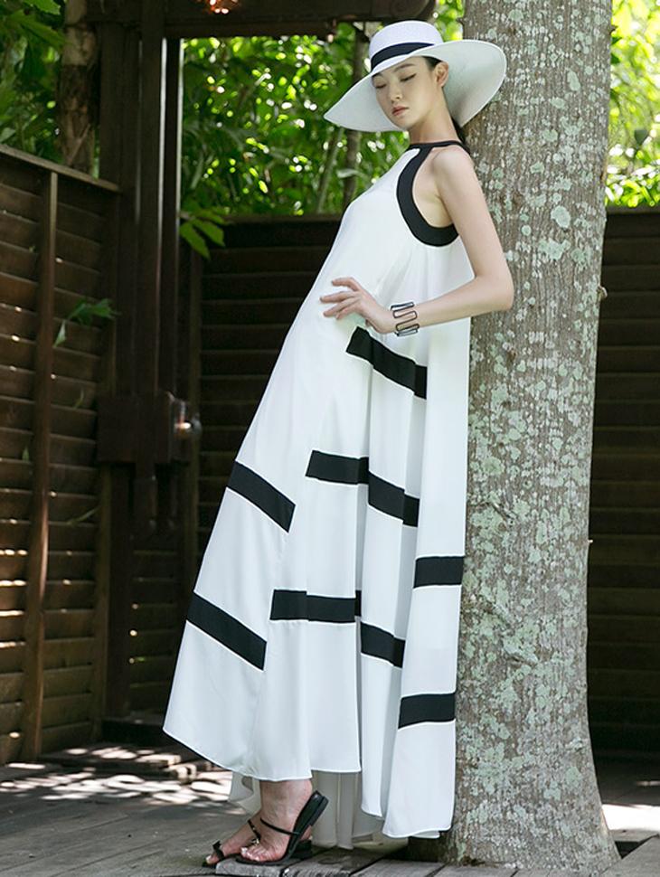D9097 Marilyn Point Line Dress