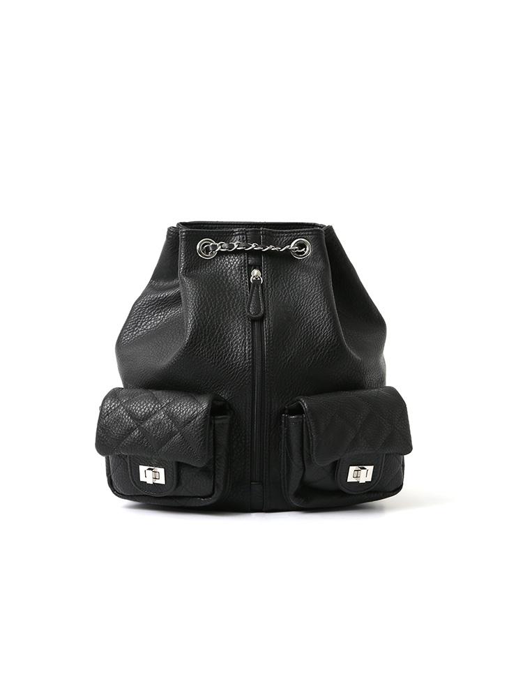 A-1089 Austin Two pocket Leather Shoulder Bag