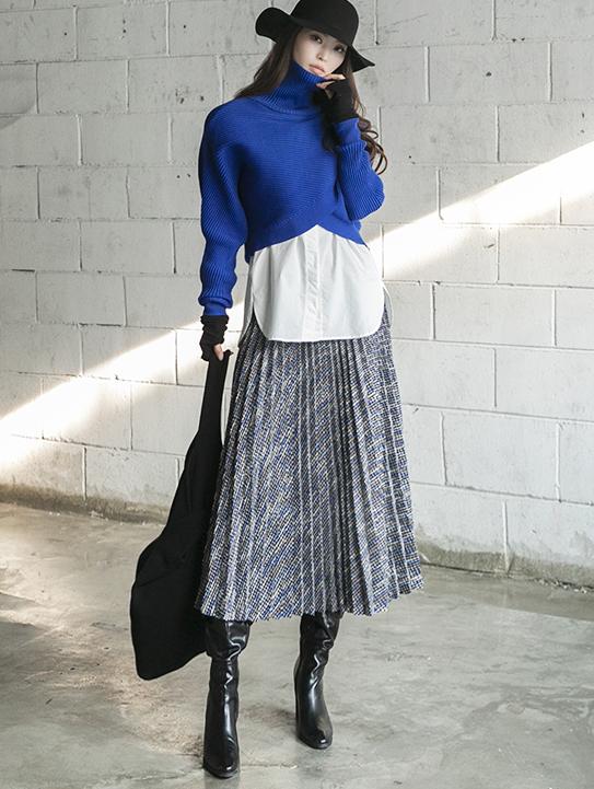 SK2015 Helena Tweed Long Skirt (3rd REORDER)