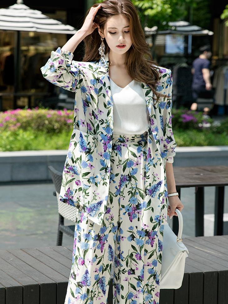 J-4944 Cent Flower patterned Jacket