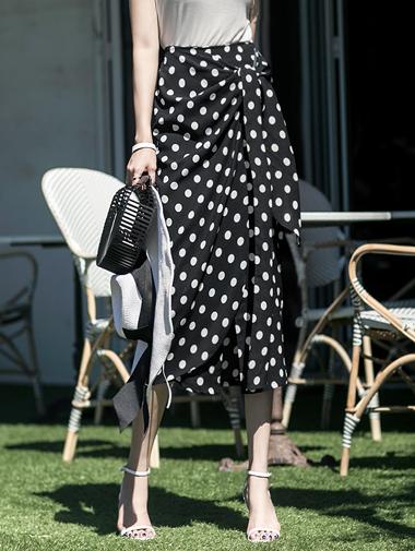 SK1746 Coverline dot warp Skirt (58th REORDER)