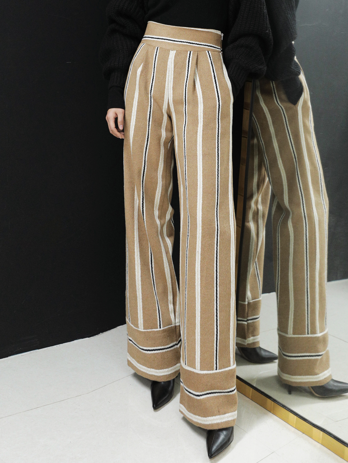 P9032 Floppy Stripe wool Pants (3rd REORDER)