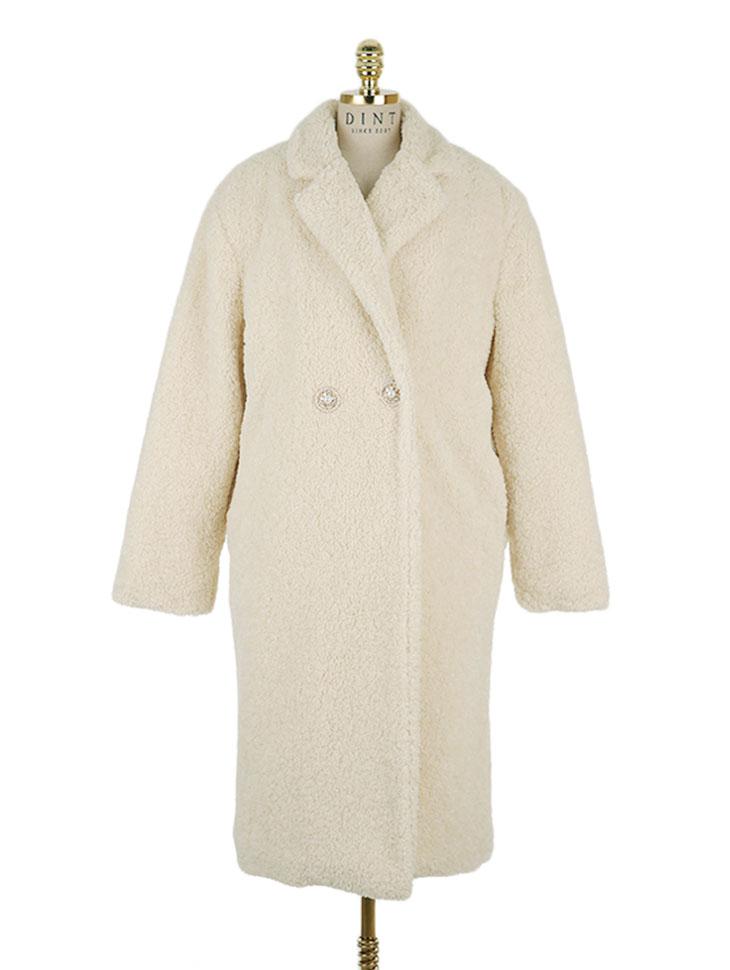 J-5141 Bijou Button Long Coat