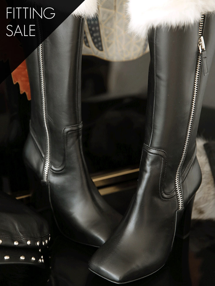 PS1746 Warming Fur Point Long Boots * HAND MADE * Fitting Sale *