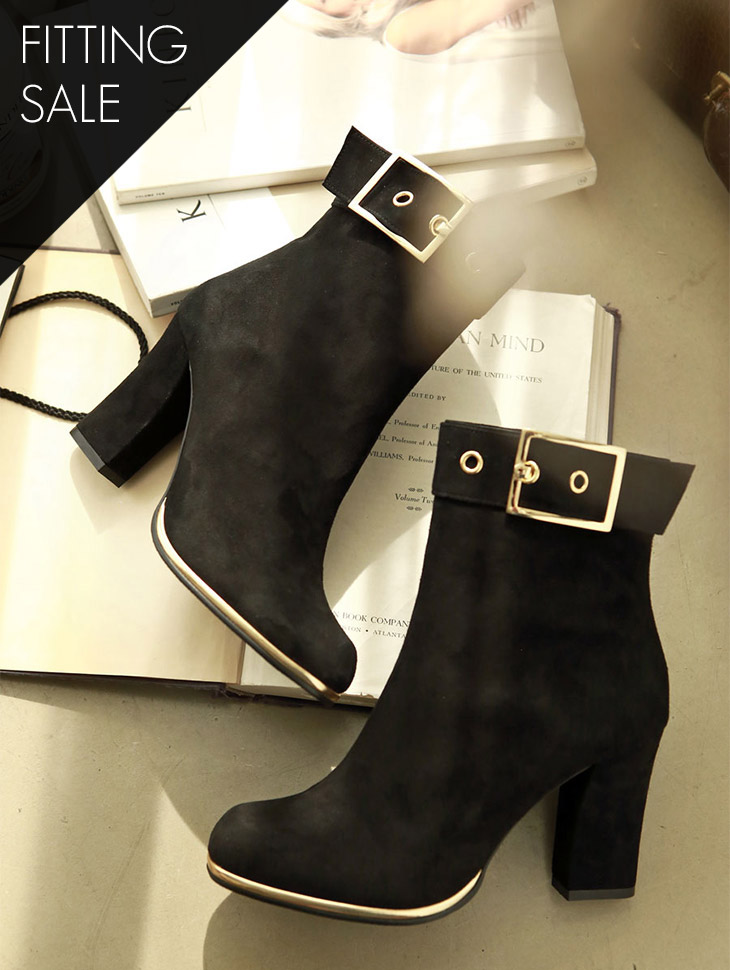 PS1750 Gold belted ankle boots * HANDMADE * fitting sale *