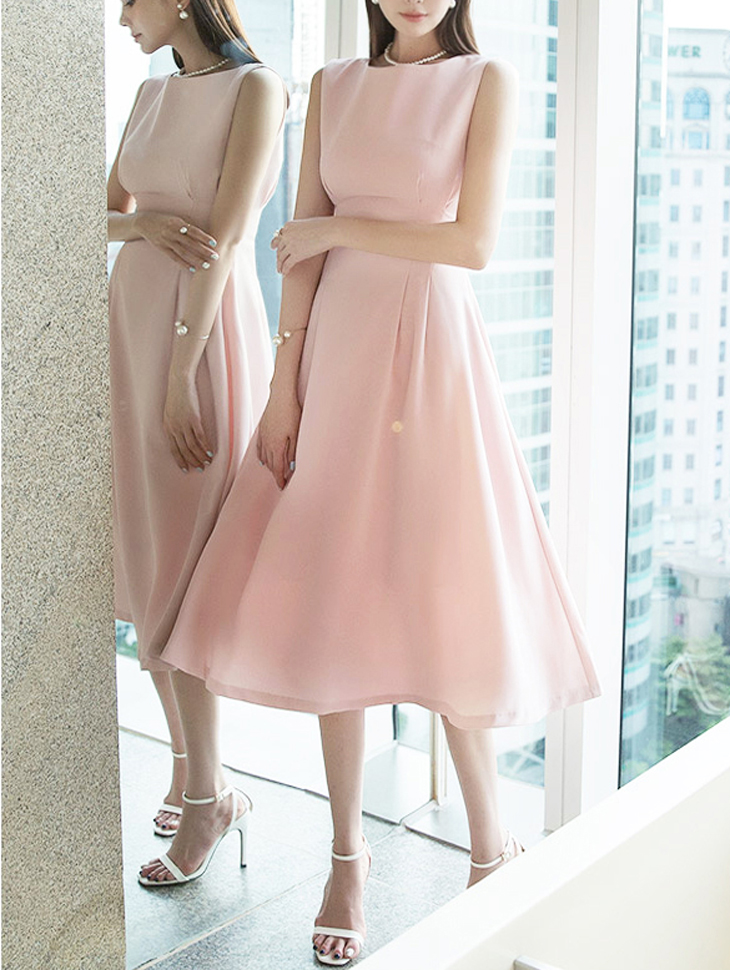 D3821 Sleeveless pull Dress * L size production * (35th REORDER)