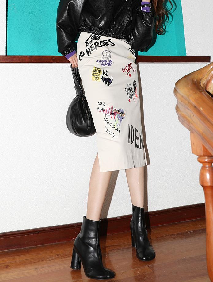 SK2022 Printing side Slit skirt*L size production*(9th REORDER)