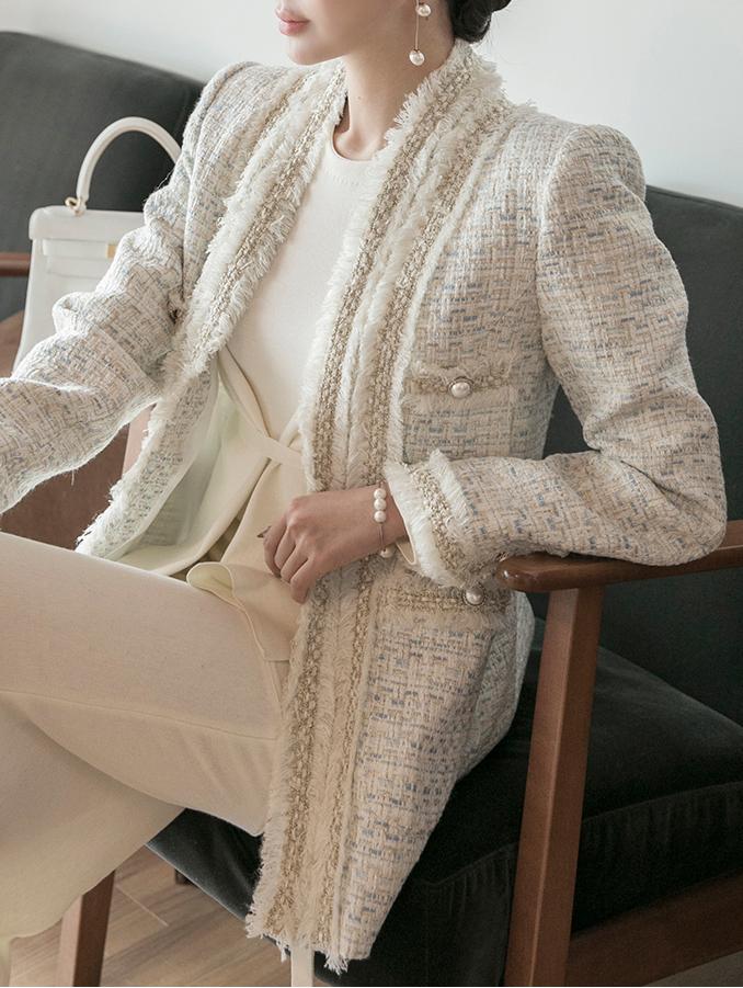 J922 rotez wool Tweed Jacket