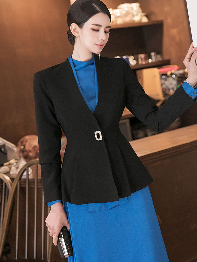 J924 Slim Line Jacket (brooch SET) * L size production *