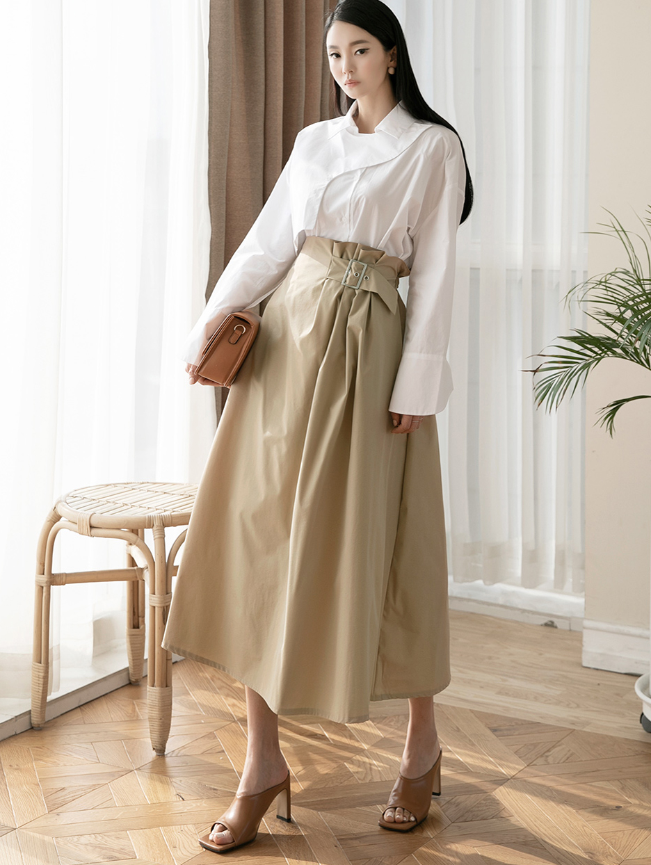 SK2031 Twill Belt skirt