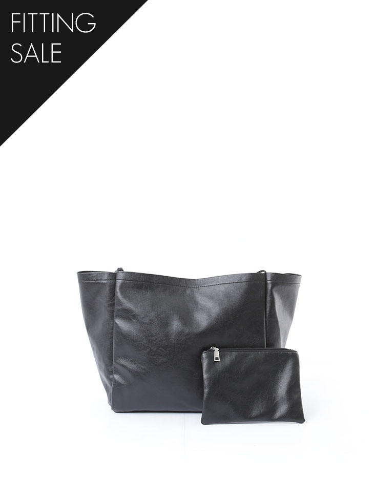 PS1786 clean Tote Leather Shoulder Bag(PouchSET)*피팅세일*