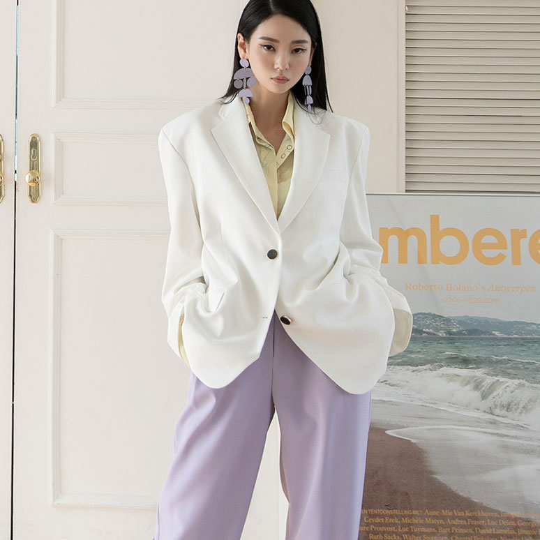 J928 two button over fit jacket