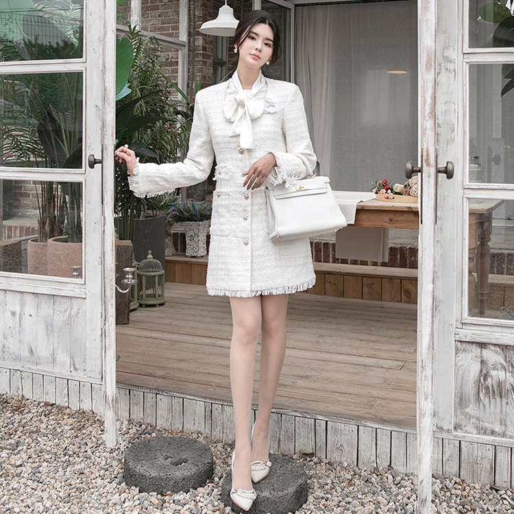 J952 Tweed Long Jacket *Can be worn as a dress*