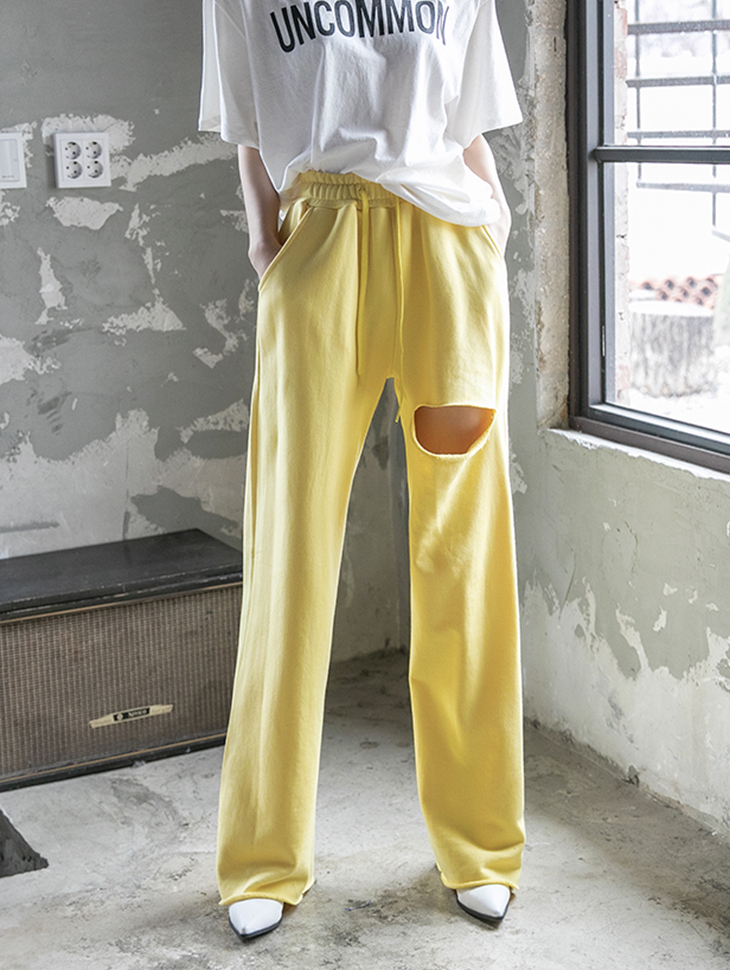 P2226 일렌즈 cutting wide pants(12th REORDER)