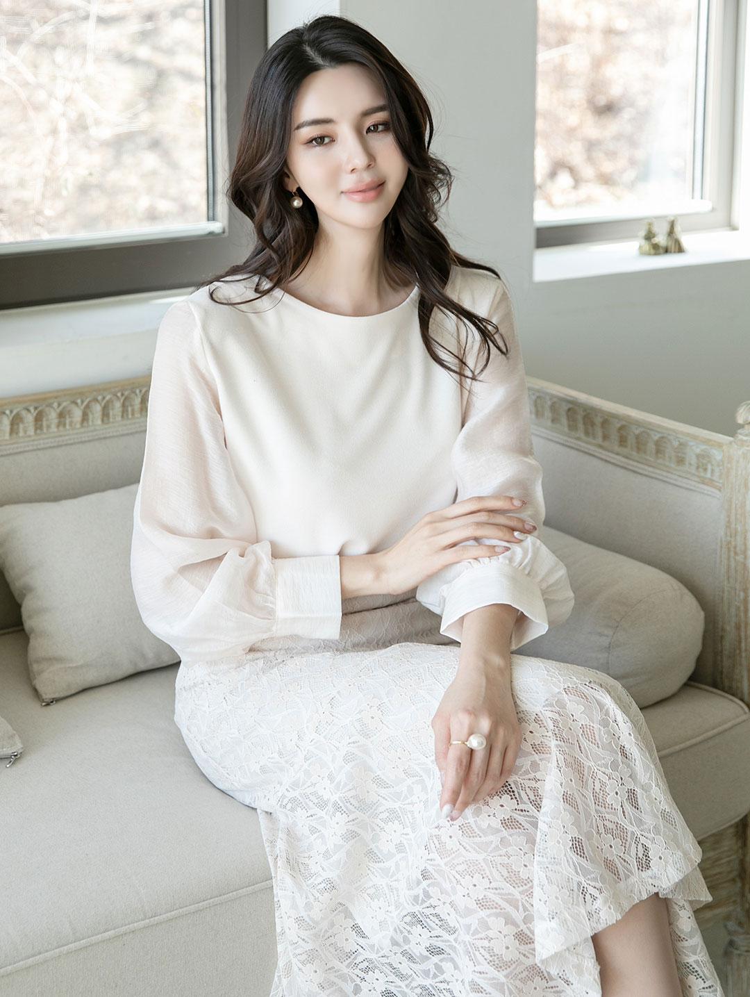 B2571 슈나링 Puff blouse(13rd REORDER)