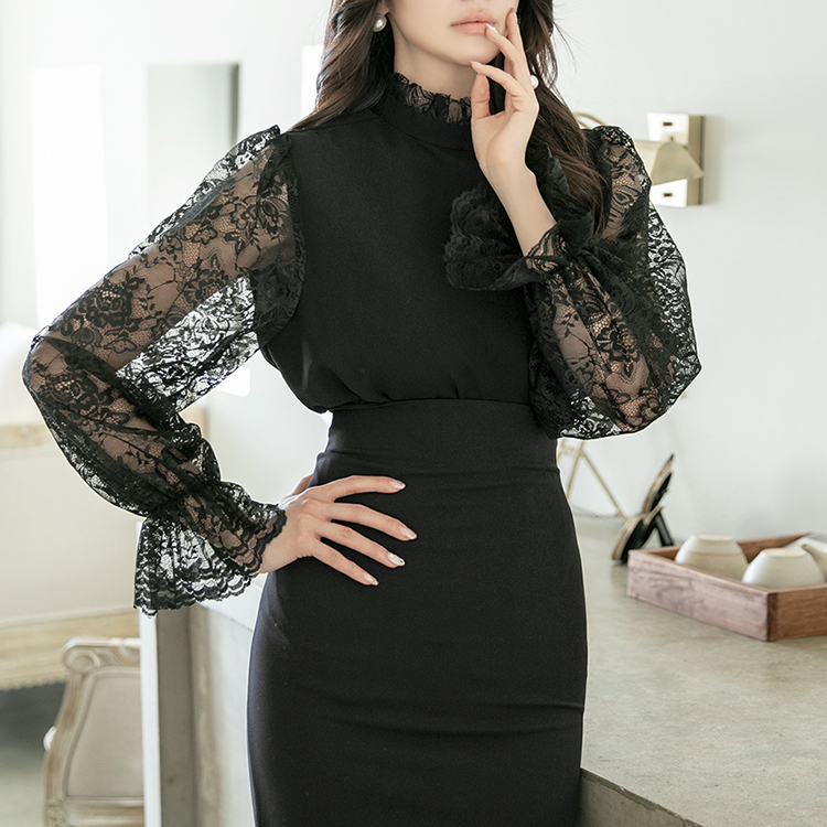 B2570 헤이안 Sleeve Lace blouse(7th REORDER)