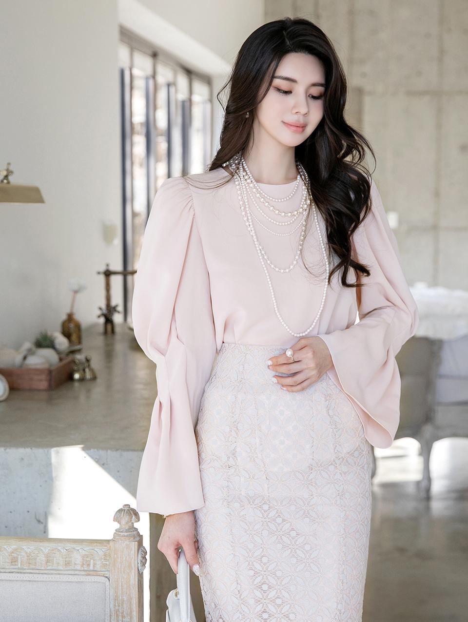B2569 pin tuck blouse(4th REORDER)