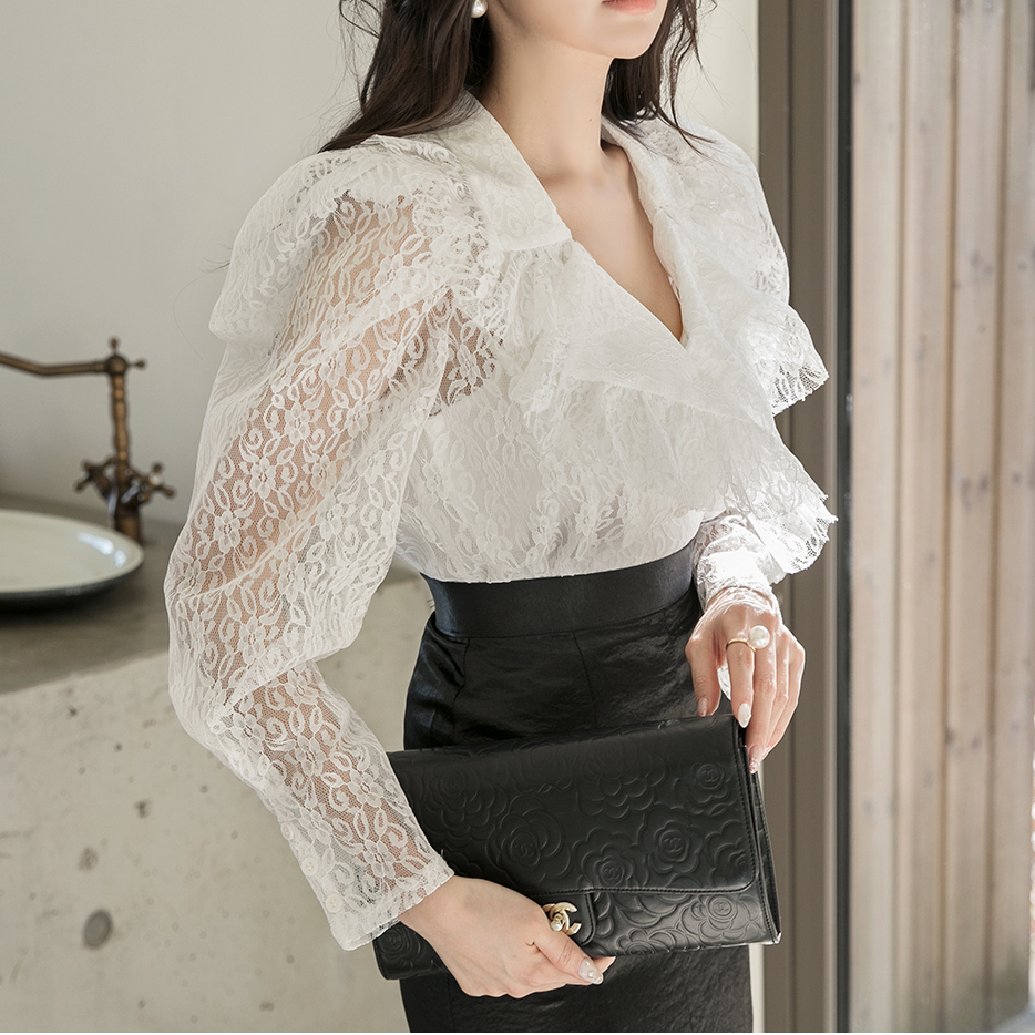 B2564 Lace blouse