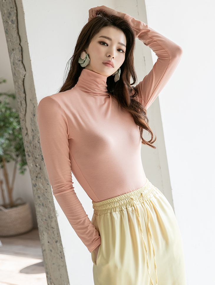 E2199 릴린 Pad turtleneck Top(6th REORDER)