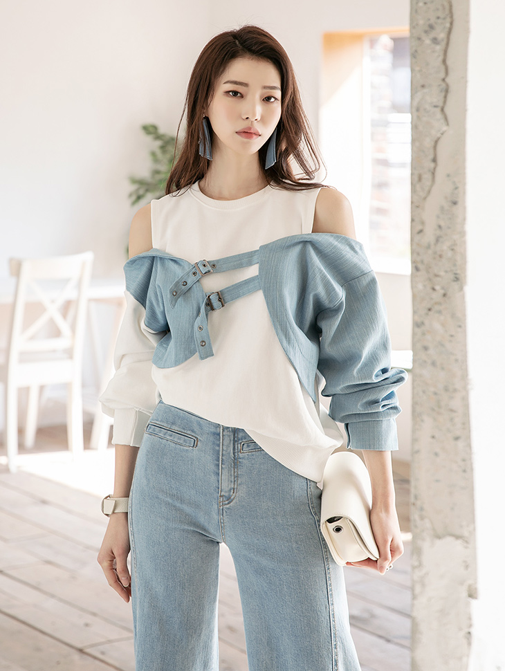 E2195 무브 Denim Point Top(6th REORDER)