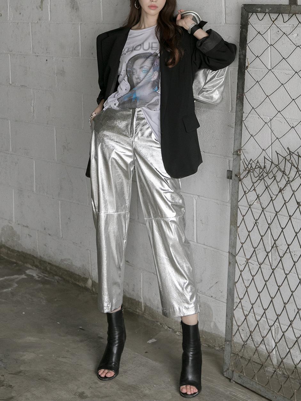 P2242 Leather Shiny pants