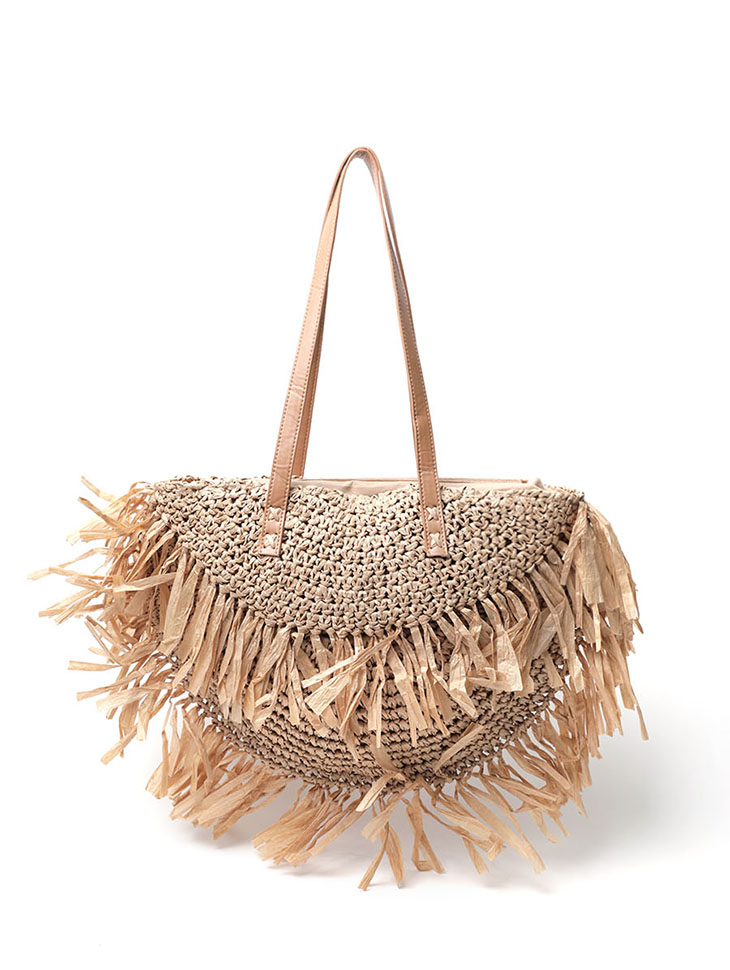 A-1136 Braid Point Rattan Shoulder bag