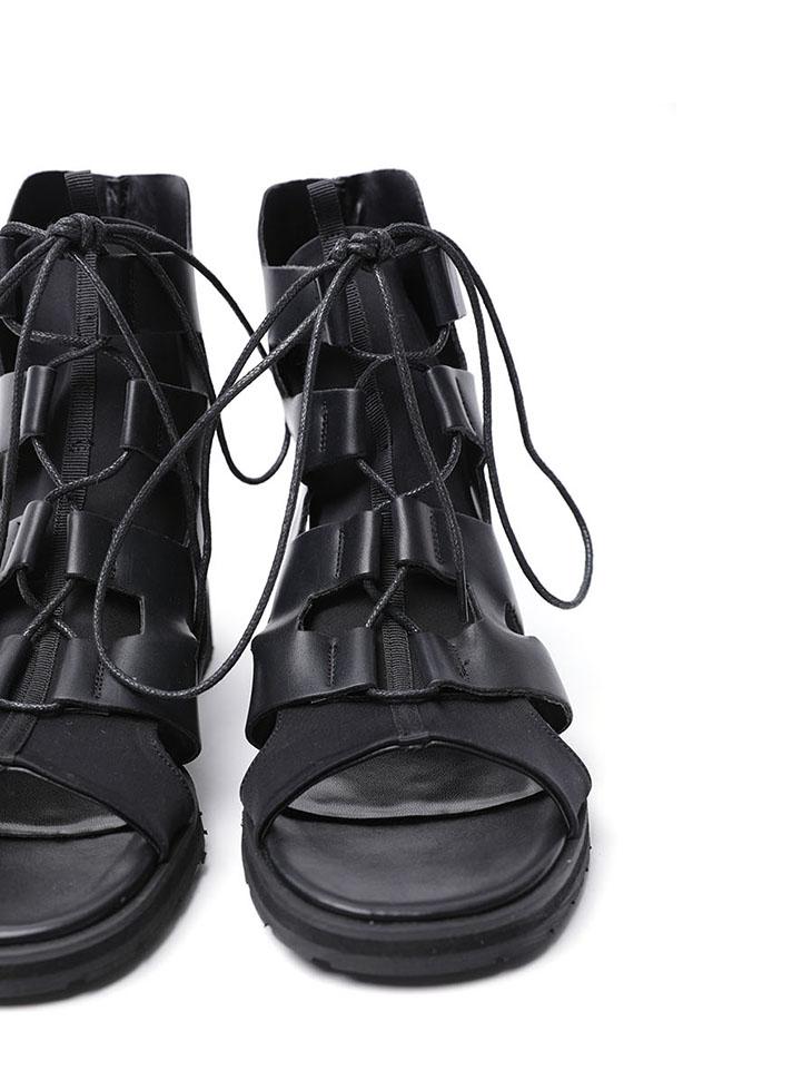 AR-2499 델로우 Leather Maxi High sandals (6th REORDER)