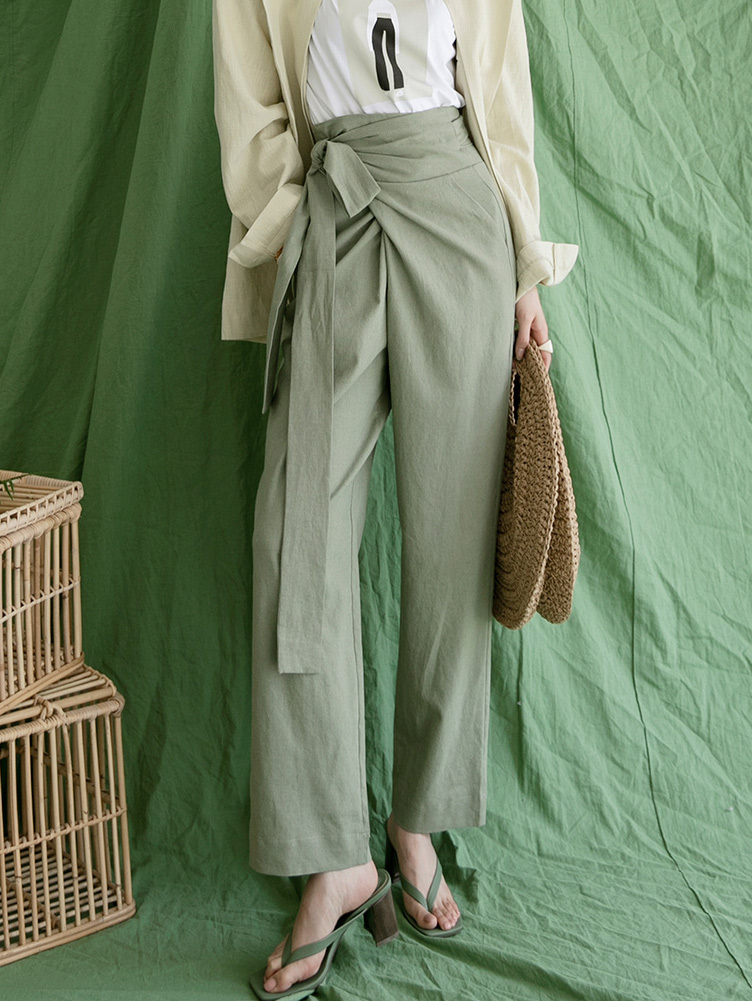 P2250 뮤던 Linen warp pants(10th REORDER)