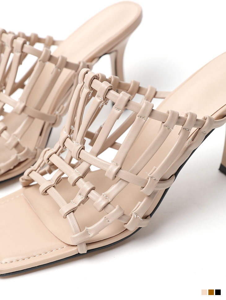 AR-2488 stitch Net sandals heels
