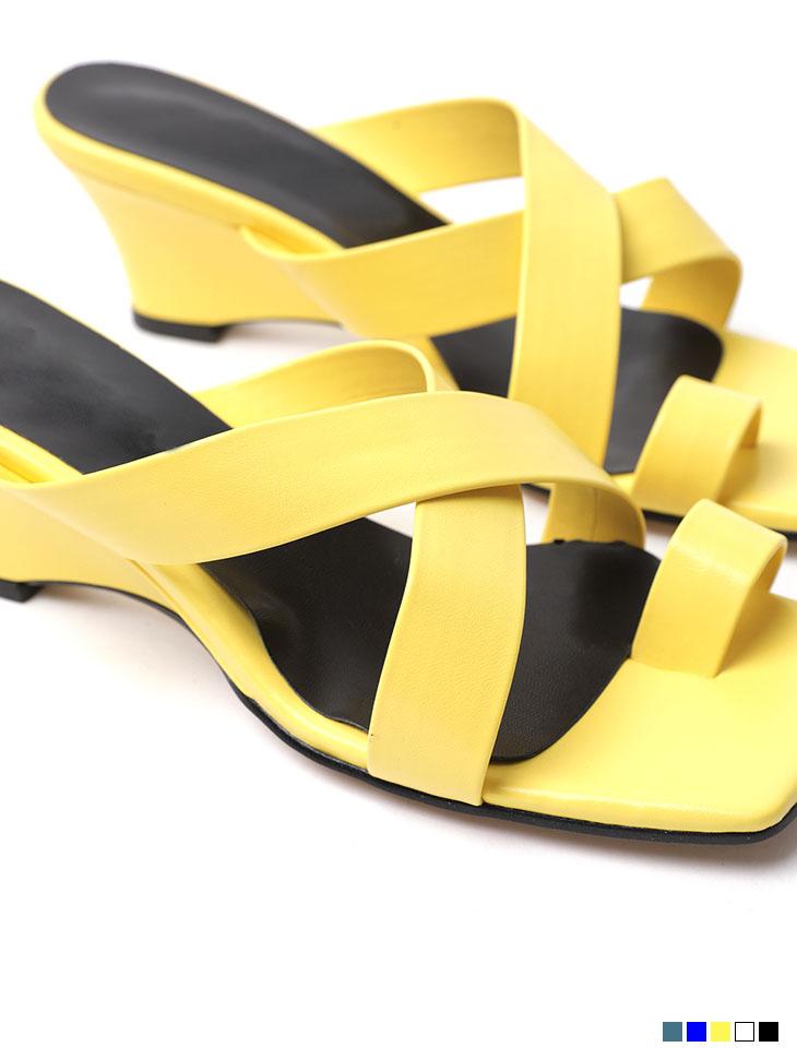AR-2489 시네아 X Strap Wedge Middle heels