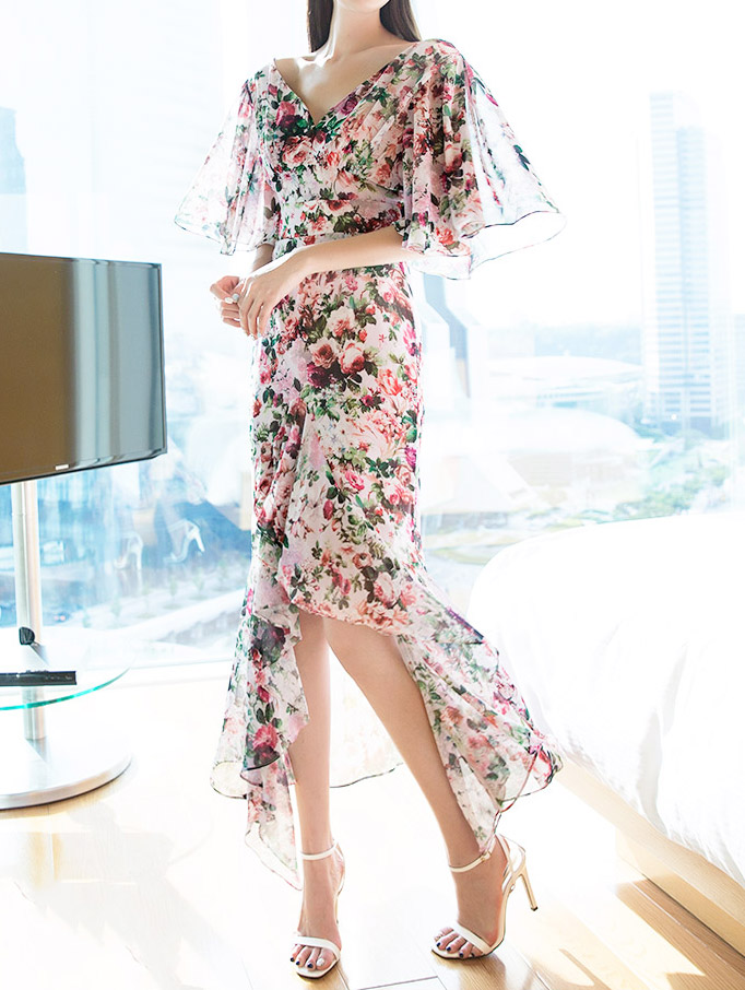 D9089 Riel Flower Chiffon Dress (18th REORDER)