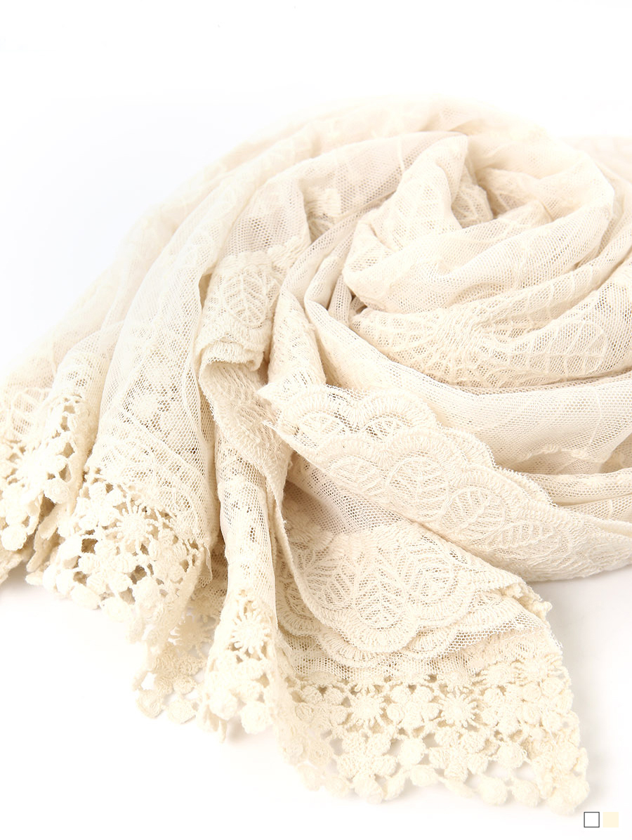 AS-1444 야론 Lace embroidery Scarf(23rd REORDER)