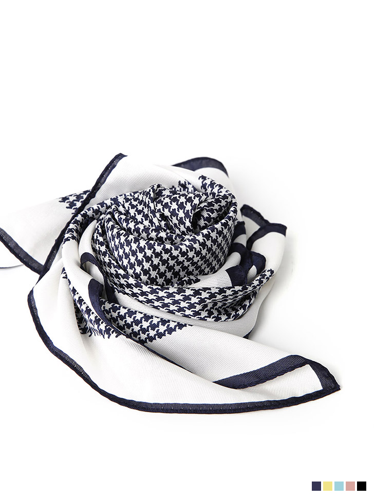 AS-1448  Hound tooth check Point Scarf