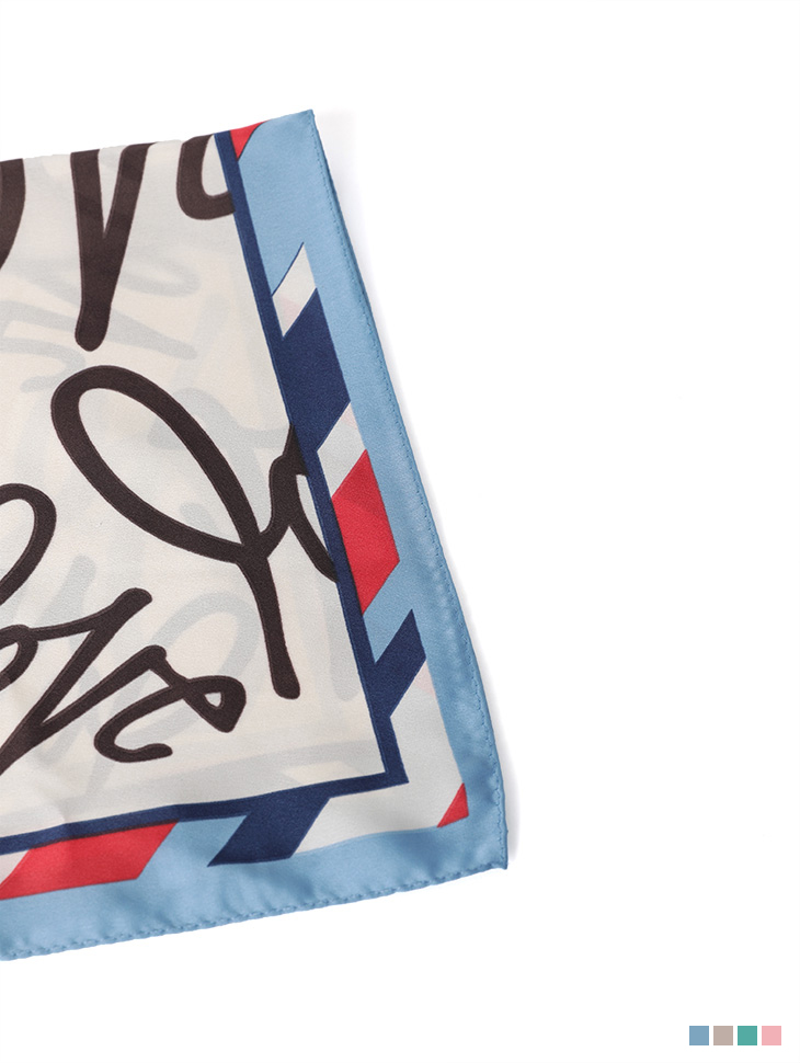 AS-1450 Love Lettering Scarf