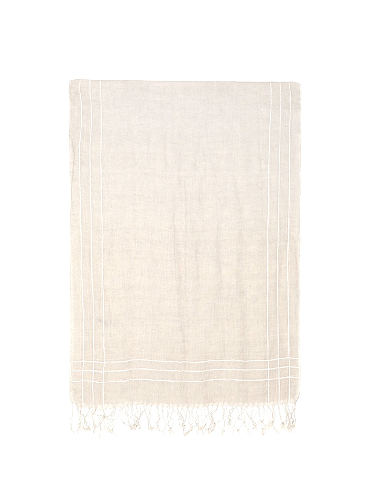 AS-1457 Linen stripe Scarf