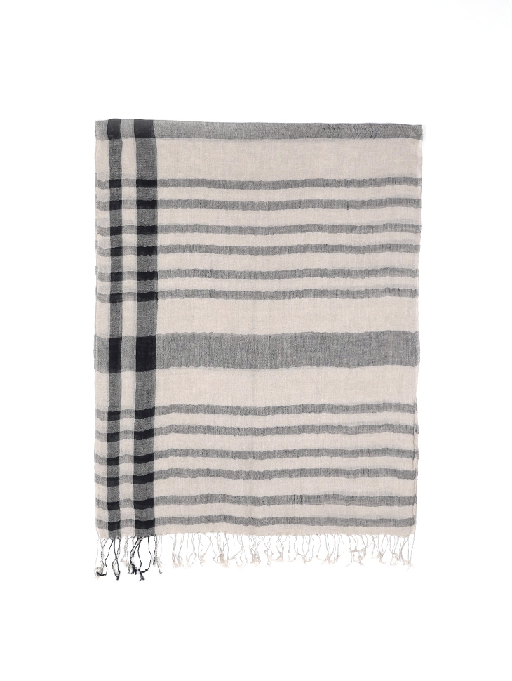AS-1458 Linen Check Scarf