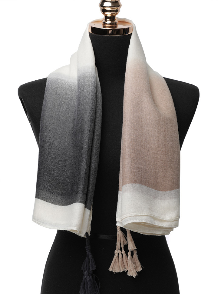 AS-1463 Gradation tassel Scarf