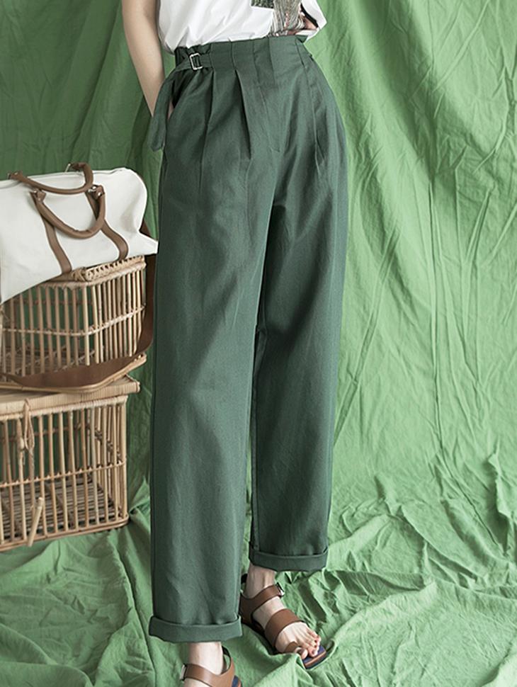 P2266 브랑누 Linen Belt point pants (10th REORDER)