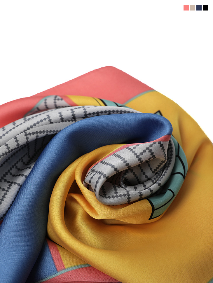 AS-1460 square Color Point Scarf