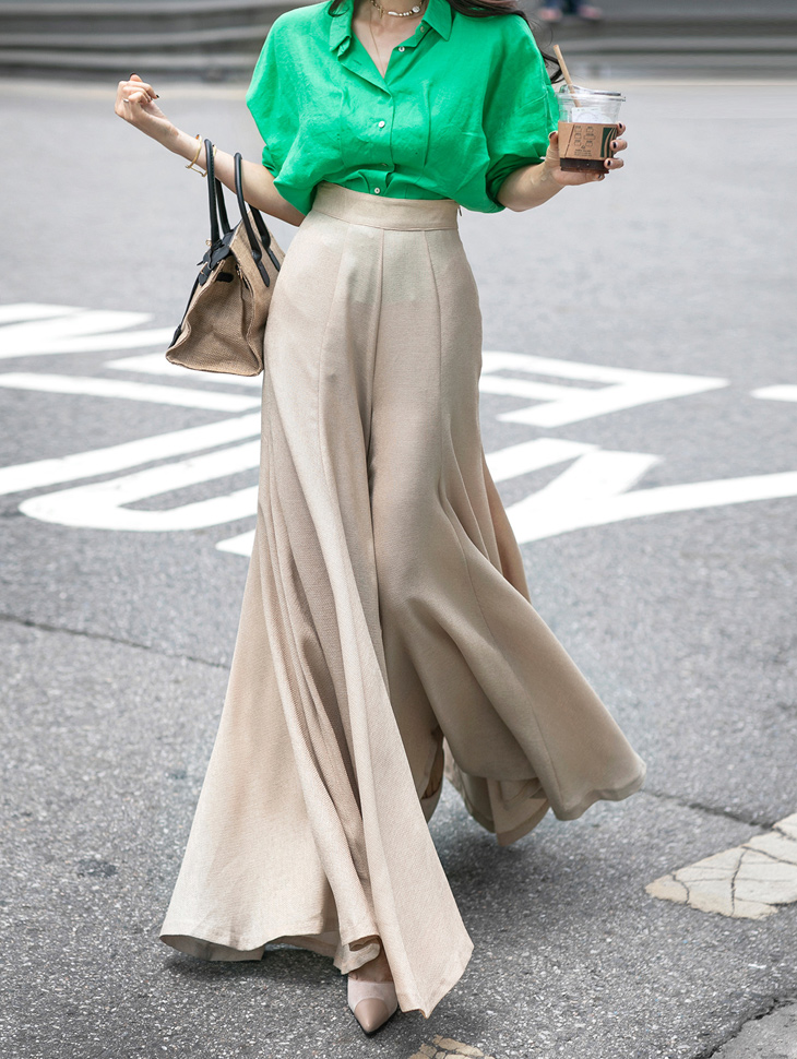P9046 pull wide pants