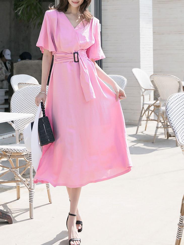 D4021 킨지 Linen flare Dress(9th REORDER)