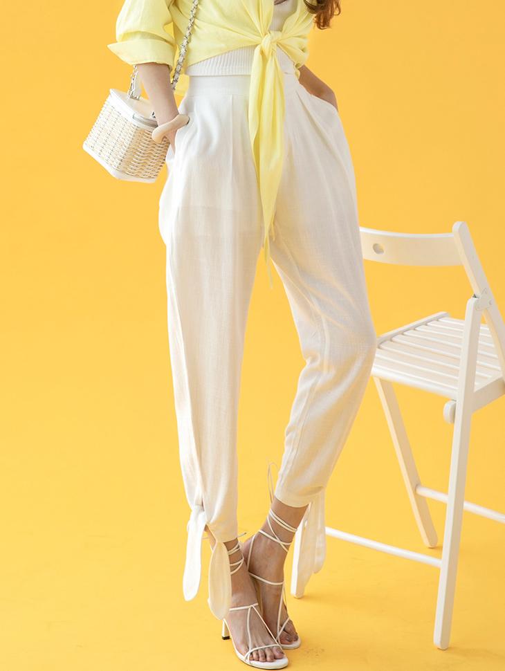 P2275 Strap Point Linen pants