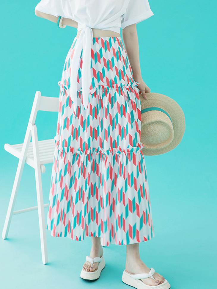 SK2073 Pattern Point skirt