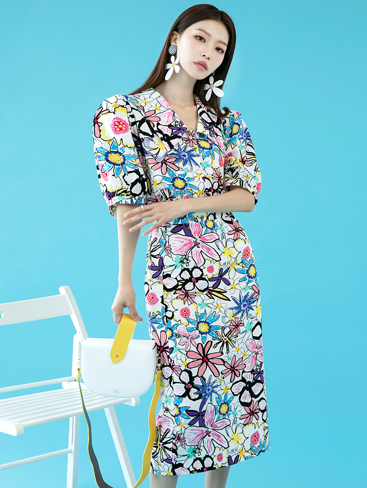 TP1130 슬렌 Pattern Point Linen two-piece