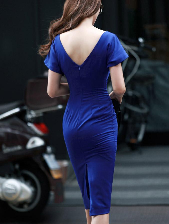 D2763 Perfect Slim simple Dress(130th REORDER)