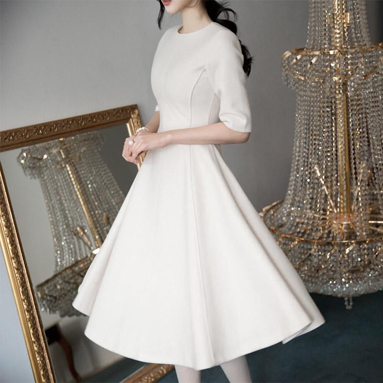 Korean D3460 Jamp ALine Dress * large size production * (59th REORDER)